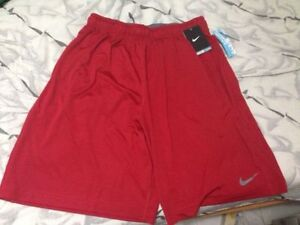 RED NIKE DRI-FIT SHORTS (Brand New Large)