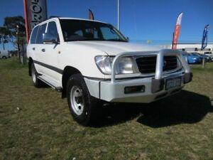 2001 Toyota Landcruiser 100 GXL White 5 Speed Manual Wagon Wangara Wanneroo Area Preview