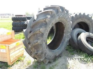 Slightly Used 650/75R38 Goodyear DT824 Optitrac Tire