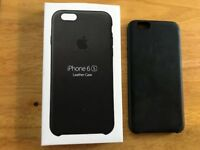 Apple iPhone 6s Black Leather Case inc Box
