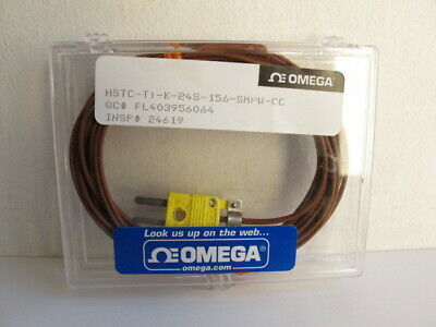 Omega Type K Hstc-tt-k-24s-156 Thermocouple Wire And Conector 24 Awg 156