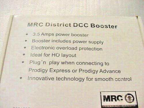 MRC Prodigy DCC Power Booster  3.5 Amp Model Railroad Digital Command Control