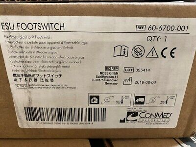 Conmed 60-6700-001 Esu Footswitch New