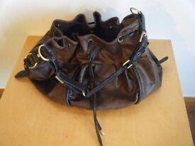 REDUCED IN PRICE- Ladies NEXT dark brown, mock leather bag