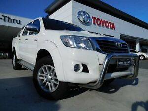 2013 Toyota Hilux KUN26R MY12 SR5 (4x4) White 4 Speed Automatic Dual Cab Pick-up Greenway Tuggeranong Preview