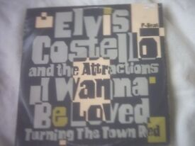 Vinyl 12in 45 I Wanna Be Loved / Turning The Town Red Elvis Costello And The Attractions