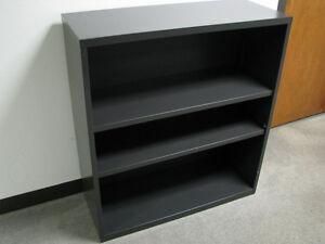 Cole Industrial Grey Metal Bookcase Adjustable w Shelves