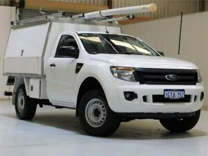 2014 Ford Ranger PX XL White 6 Speed Manual Cab Chassis Yangebup Cockburn Area Preview