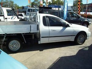 2003 Ford Falcon BA Tradesman Super Cab XL White 4 Speed Sports Automatic Traytop Capalaba West Brisbane South East Preview