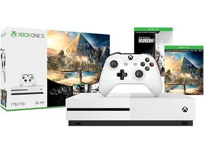 Xbox One S 1 Tb Console   Assassins Creed Origins Bonus Bundle