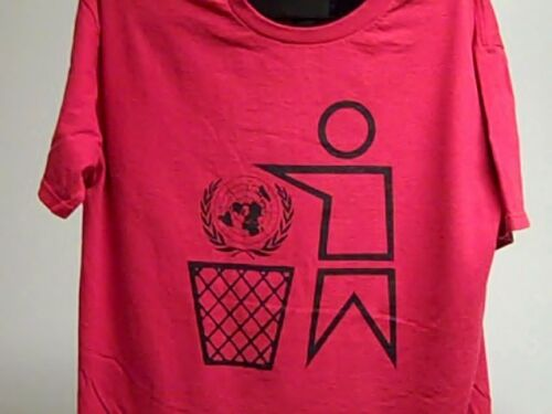 Anti - UNITED NATIONS Red T-Shirt X-Large XL CNN Media NYC 2020 Trump China