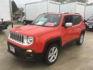 2018 JEEP RENEGADE LIMITED red low km's 4x4 NAVIGATION