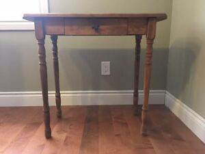 Stained side table