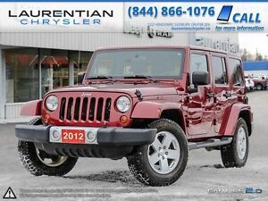 2012 Jeep Wrangler Unlimited SAHARA-ACCIDENT FREE+ONE OWNER+HEAT