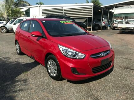 2016 Hyundai Accent RB4 MY16 Active Red 6 Speed Constant Variable Hatchback Winnellie Darwin City Preview