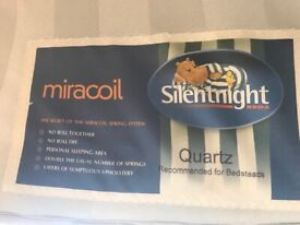 Good Condition Silentnight Miracoil Spring Double Mattress