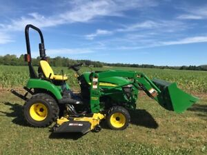 John Deere 2305 Compact Tractor with Mower and Loader