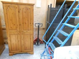 gorgeous ducal solid pine double wardrobe with key. immaculate. can deliver