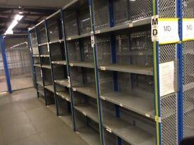 job lot dexion impex industrial shelving 500 bays ( storage , pallet racking )