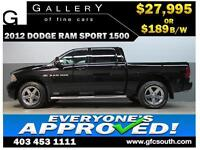 2012 DODGE RAM SPORT CREW *EVERYONE APPROVED* $0 DOWN $189/BW