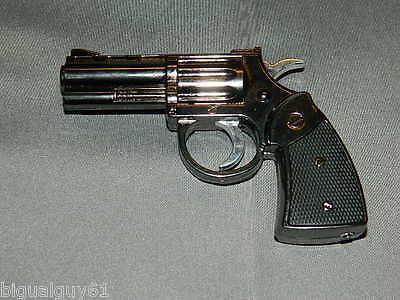 Medium Size Pistol Gun Revolver Jet Torch Lighter With White LED Flashlight USA