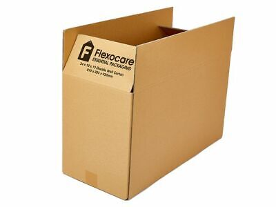 10 x FLEXOCARE Double Wall Carton cardboard Boxes, 610 x 254 x 330 mm - Free 24h
