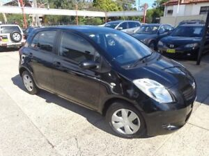 2006 Toyota Yaris NCP90R YR Black 5 Speed Manual Hatchback Sylvania Sutherland Area Preview