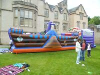 Bouncy castle hire. Pirate Ship/Island, Terror Slide, Adult castles, Sumo Suits, Popcorn machine etc
