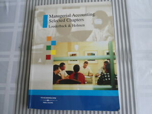 USED BOOK : MANAGERIAL ACCOUNTING SELECTED CHAPTERS Kitchener / Waterloo Kitchener Area image 1