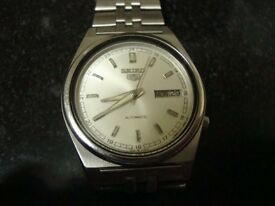 VINTAGE MENS SEIKO AUTOMATIC WATCH (STEEL BRACELET)