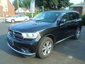 2016 DODGE DURANGO LIMITED- SUNROOF, LEATHER HEATED MEMORY SEATS