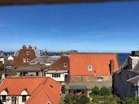 Clean Cosy One bedroom 2nd floor (top) flat, with coastal views, in North Berwick to rent.