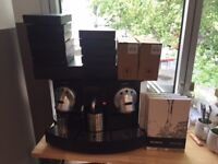 Nespresso Gemini 220 Coffee Machine For Sale - Used / Good Condition - lots of extras!