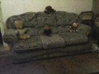 Sofa , retro-style. 3 seater. Uber comfy. Big enough to sleep on. Superb craftsmanship.