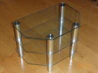 Glass/chrome medium size TV stand