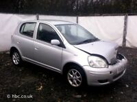 TOYOTA YARIS 2002 BREAKING FOR SPARES TEL 07814971951 HAVE FEW IN STOCK