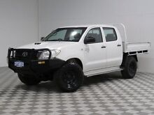 2011 Toyota Hilux KUN26R MY11 Upgrade SR (4x4) White 5 Speed Manual Dual Cab Chassis Jandakot Cockburn Area Preview