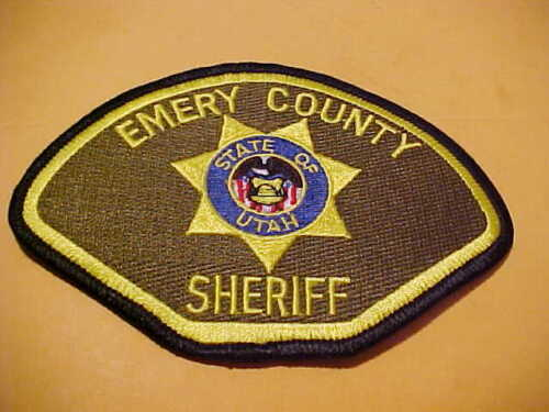 EMERY COUNTY UTAH POLICE PATCH SHOULDER SIZE USED