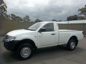 2013 Mitsubishi Triton MN MY12 GL White 5 Speed Manual Cab Chassis Lalor Park Blacktown Area Preview