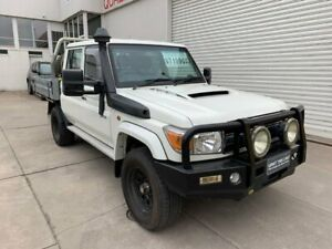 2016 Toyota Landcruiser VDJ79R GXL Double Cab White 5 Speed Manual Cab Chassis Colac Colac-Otway Area Preview