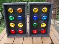 DISCO LIGHTS SET SOUNDLAB 8s ( 16 x BULBS )WITH BUILT IN CONTROLLER- MEGA BRIGHT LIGHTS