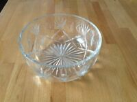Cut glass serving bowl