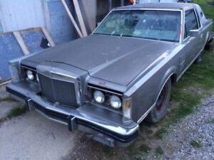 1980 ! Lincoln  Continental  Part's or derby car .