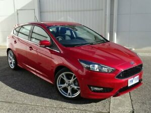 2018 Ford Focus LZ Titanium Red 6 Speed Automatic Hatchback Bundoora Banyule Area Preview