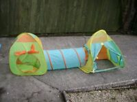 Pop up play tent combination set birthday tea party etc.
