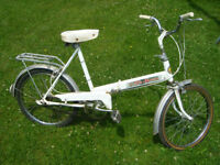 Vintage Supercycle Mini auto fold up bike for sale in Truro.