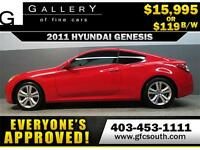 2011 HYUNDAI GENESIS 2.0T **EVERYONE APPROVED** $0 DOWN $119/BW!