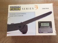 Vintage Psion Series 3 hand held computer plus Spreadsheet software, new in boxes