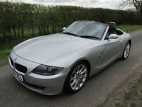2006 56 BMW Z4 2.0I SPORT ROADSTER CABRIOLET CONVERTIBLE SILVER BLACK LEATHER