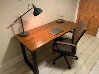 *New* Computer desk Table workstation solid wood and metal